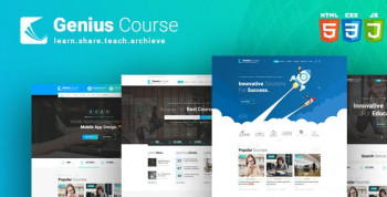Genius Course - Learning & Course WordPress Template