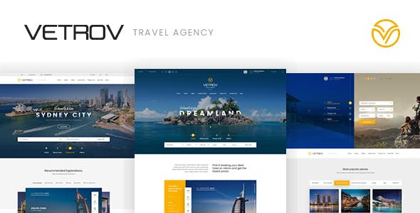 Vetrov - Hotels, Tours & Travel WordPres Theme