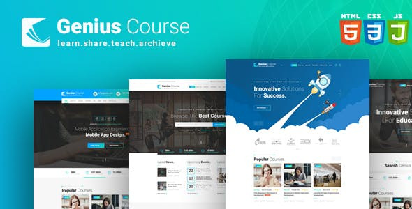 WordPress тема Genius Course