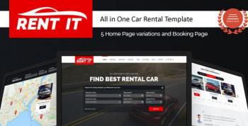 Rent It - Multipurpose Vehicle Car Rental WordPress Theme