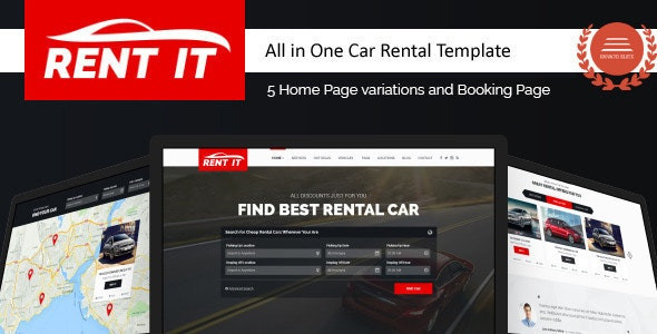 Rent It - Multipurpose Vehicle Car Rental WordPress Theme