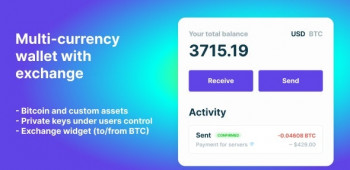 Bitcoin, Ethereum, ERC20 crypto wallets with exchange